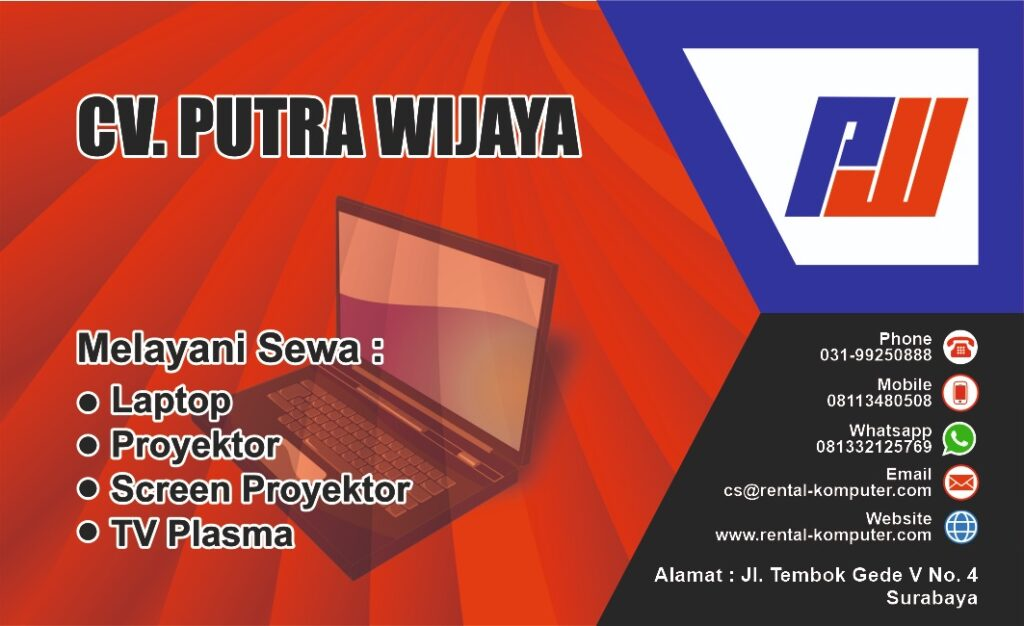 Sewa Rental Laptop Screen Proyektor TV Plasma