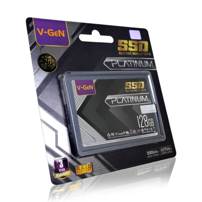 SSD V-Gen 128GB SATA 3 Solid State Drive 2.5 VGEN
